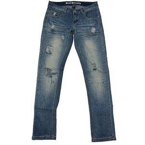 Blues Society Skinny Jeans Stretch Distressed 7/8